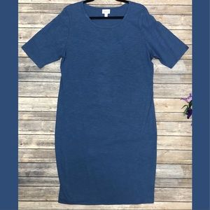 LuLaRoe Julia T Shirt Dress Adjustable Tunic Top